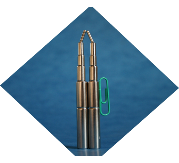 Magnet Stabmagnet Neodym NdFeB N50M d6x7, vernickelt