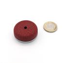 Flachgreifer AlNiCo ø38,1x10,4 rot lackiert