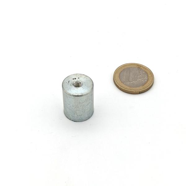 Stabgreifer AlNiCo mit Innengewinde M4 d16x20 mm