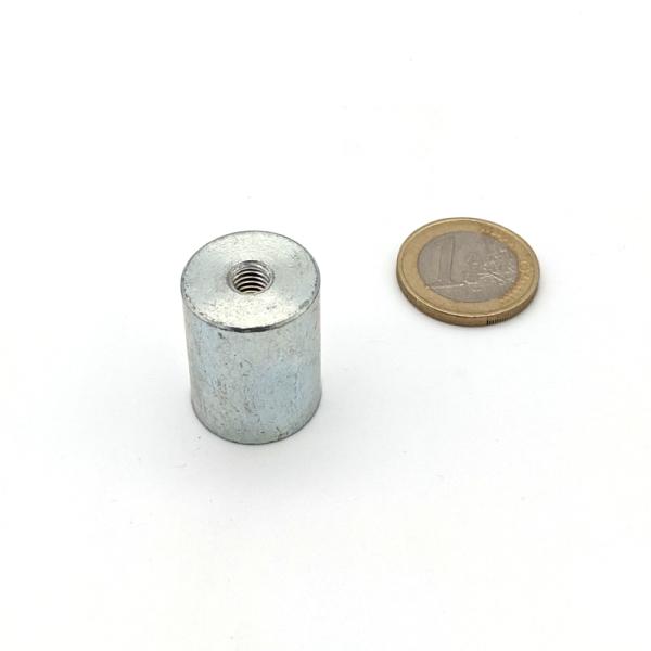 Stabgreifer AlNiCo mit Innengewinde M6 d20x25 mm