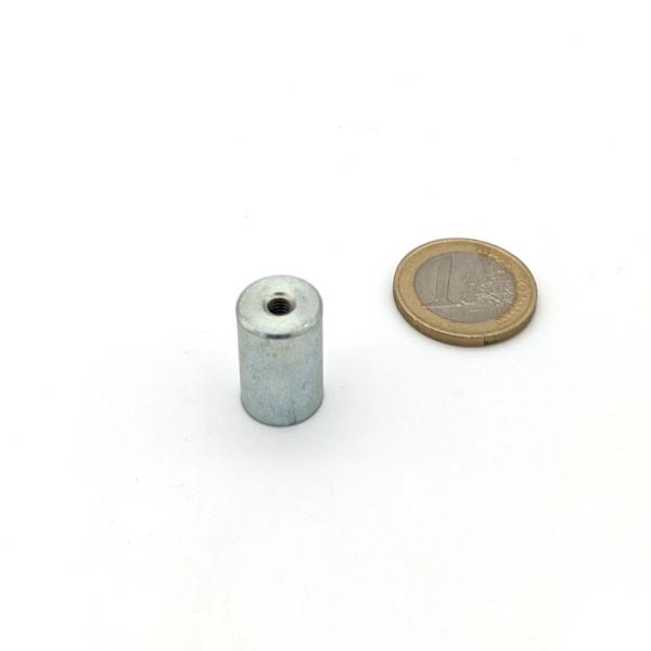 Stabgreifer AlNiCo mit Innengewinde M4 d13x20 mm