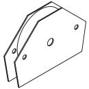 Permanent-Mehrfach-Winkelmagnet L96xB15xH64 mm